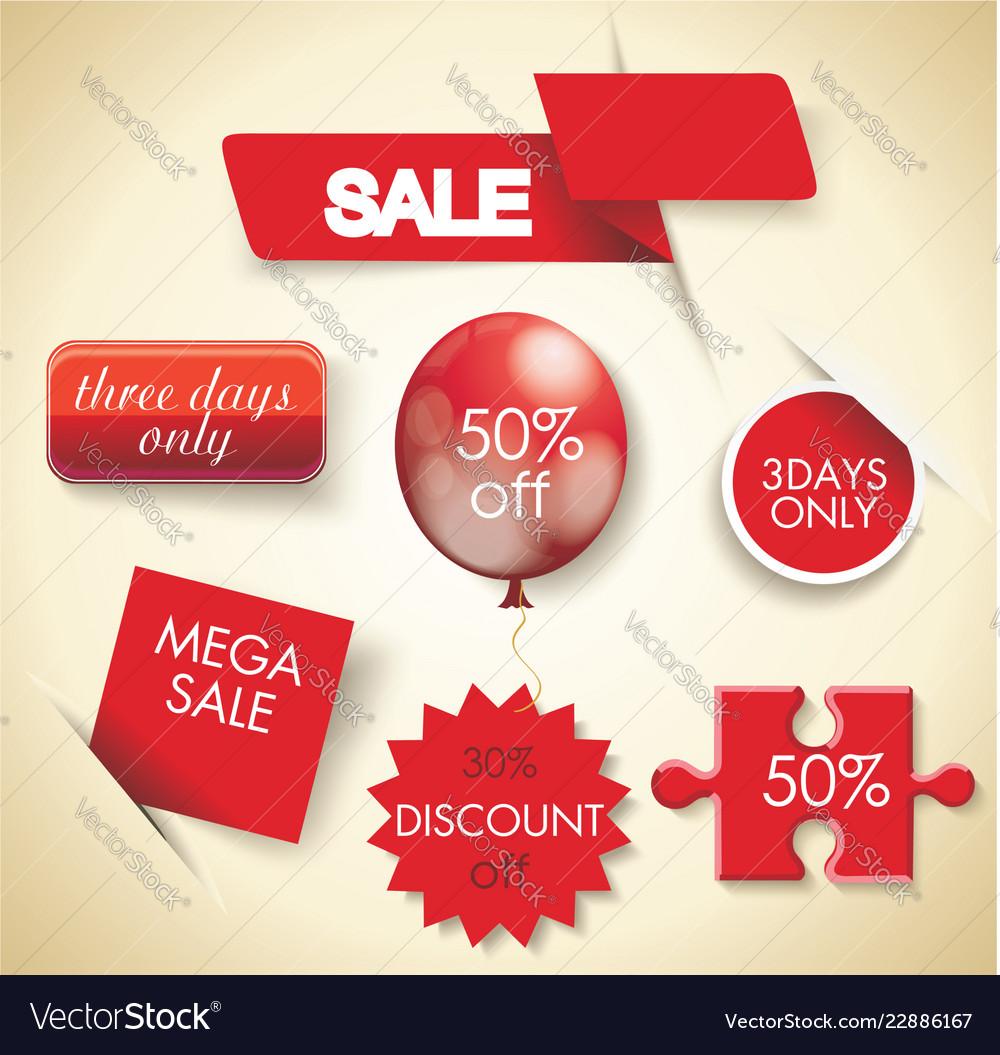 Mega sale set of sale design elements