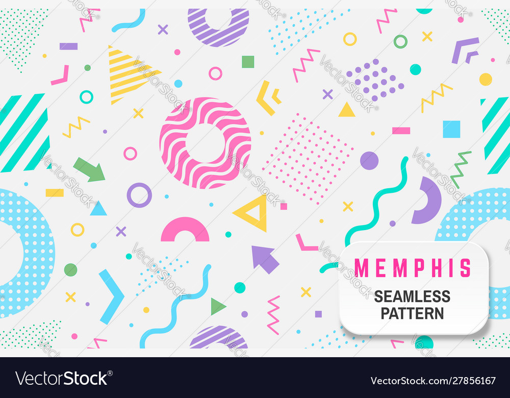 Memphis seamless pattern different
