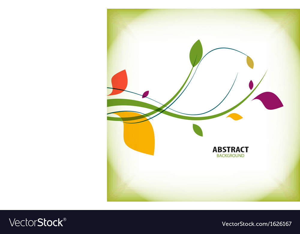 Nature vintage green floral abstract background vector image