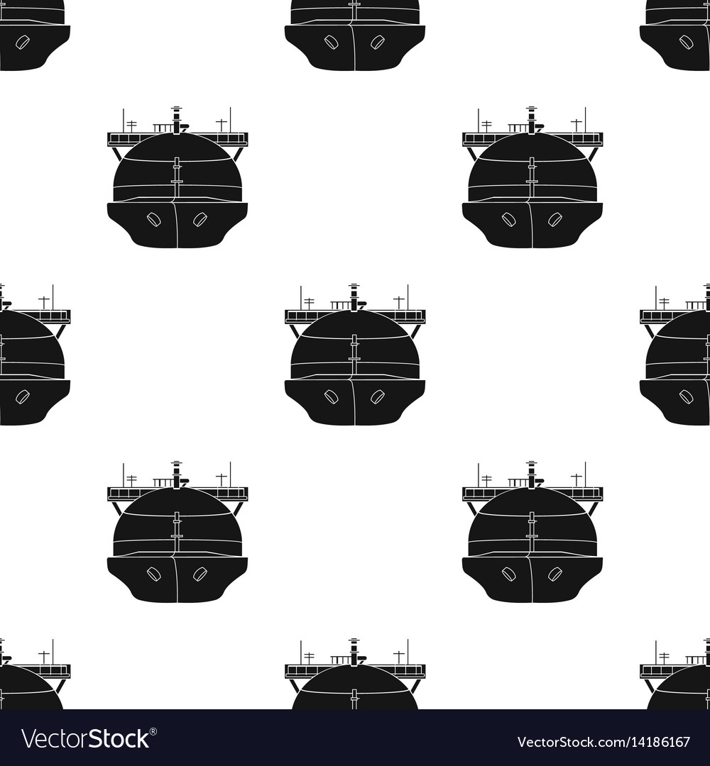 Oil tanker icon in black style isolated on white vector image