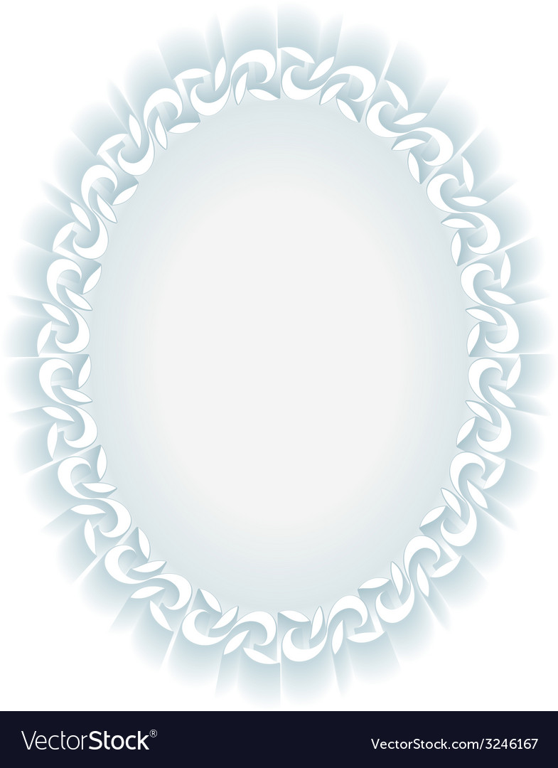 White convex oval frame Royalty Free Vector Image