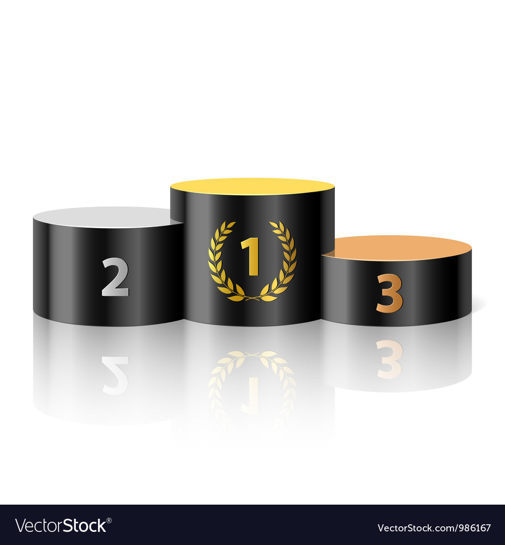 winners podium royalty free vector image vectorstock