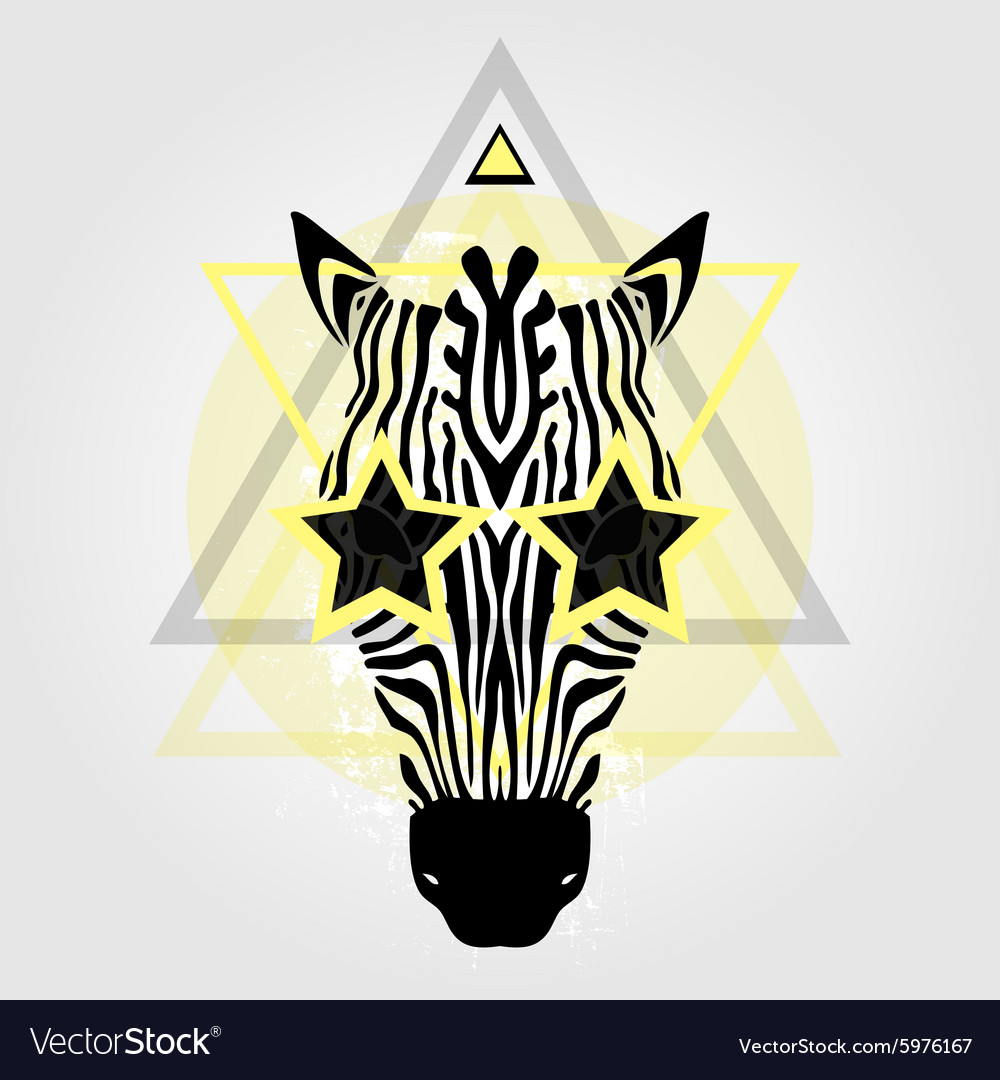 Zebra head Tribal pattern