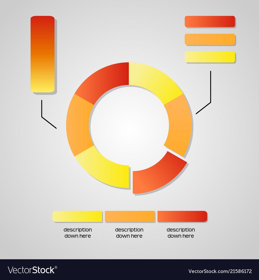 Business chart graphic data diagram