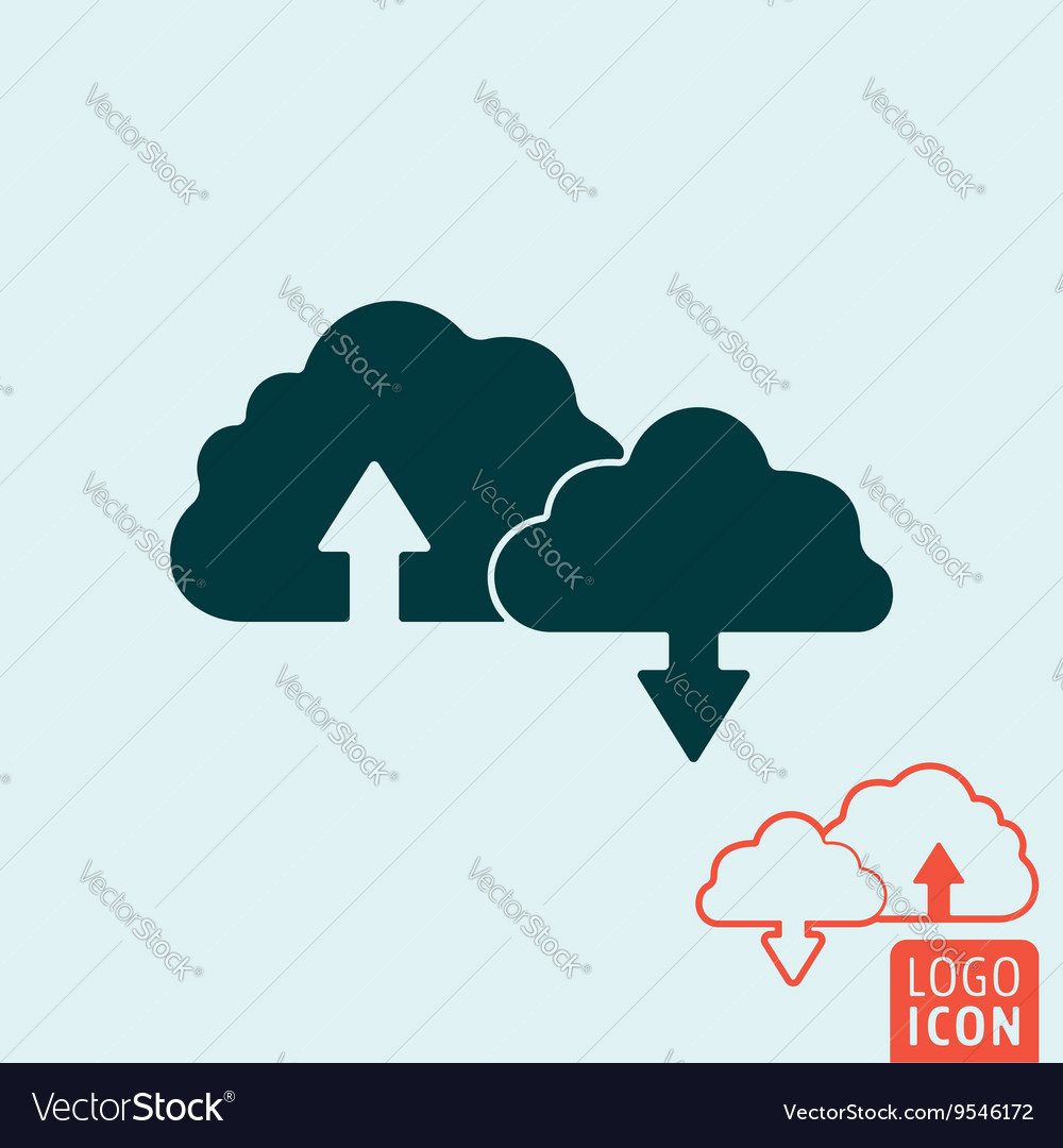 Cloud icon isolated