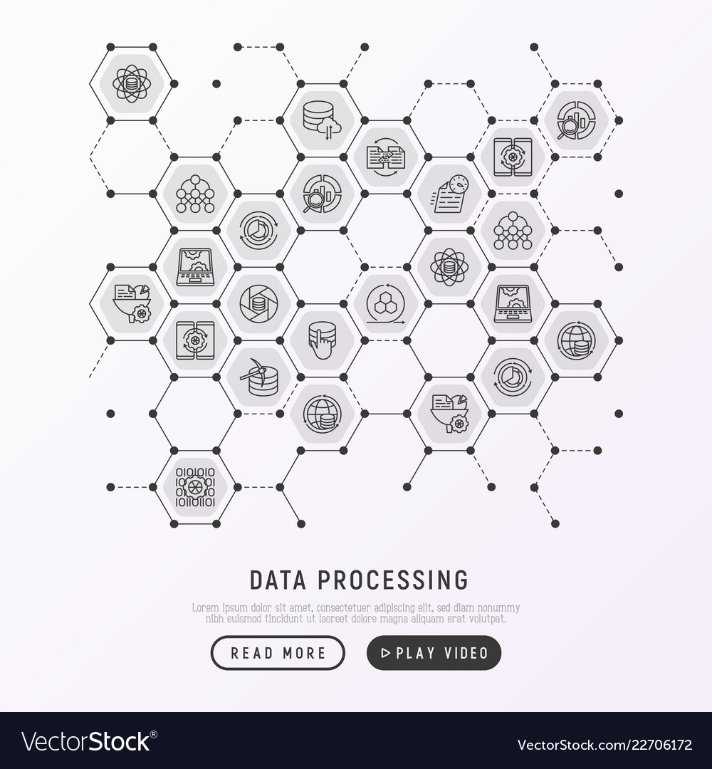 Data processing concept in honeycombs