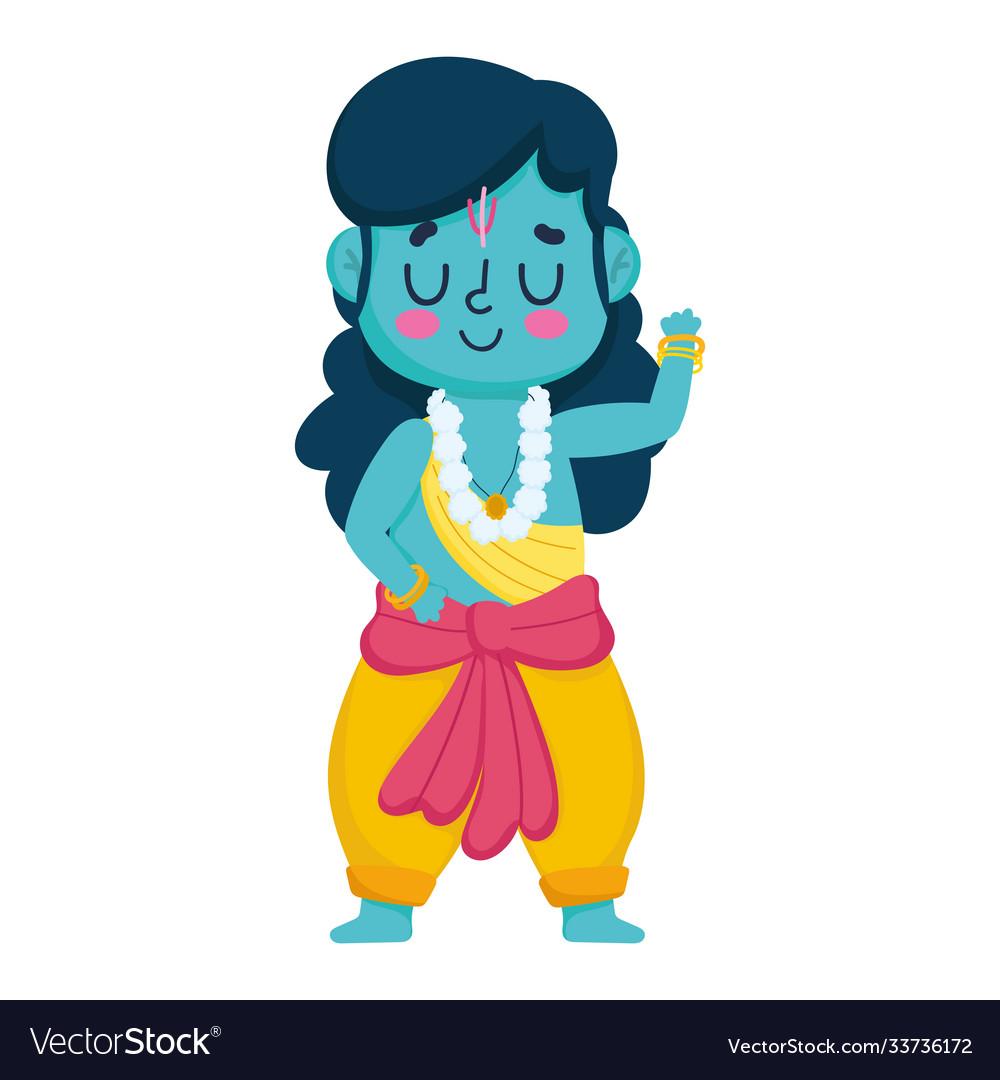 Indian lord rama character traditional spiritual