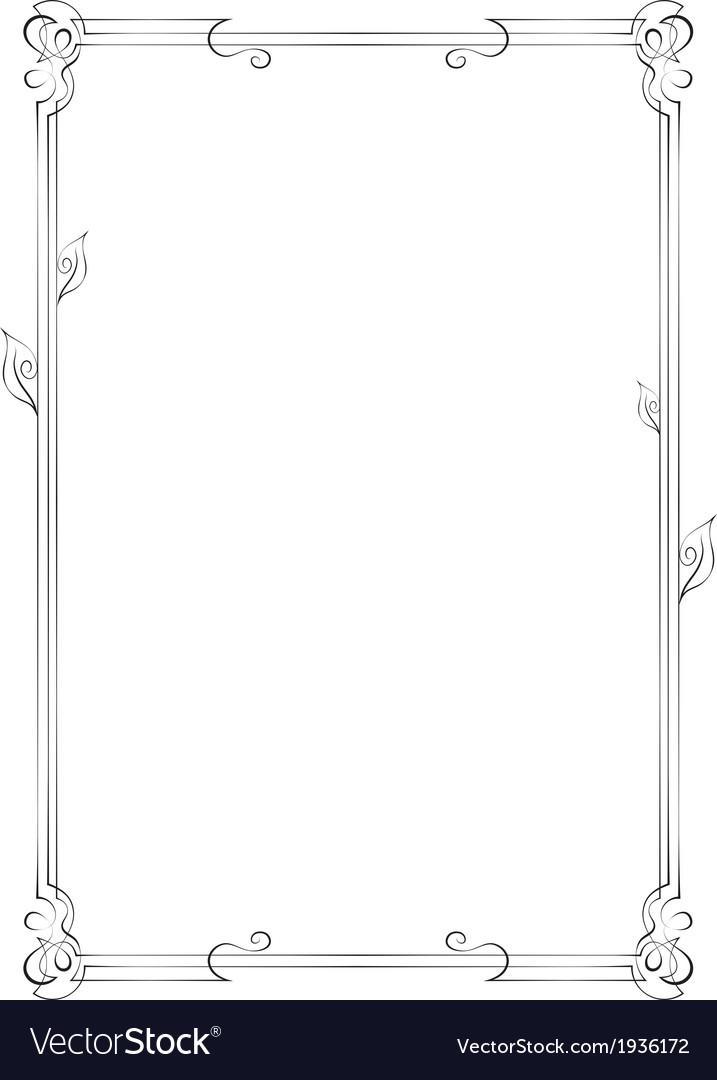 Vertical frame with swirls