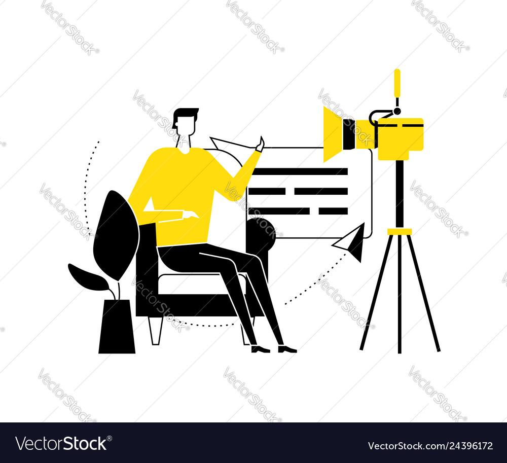 Video blogger - flat design style