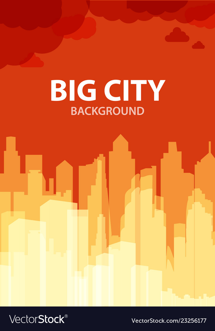 Big city abstract background creative ad flyer