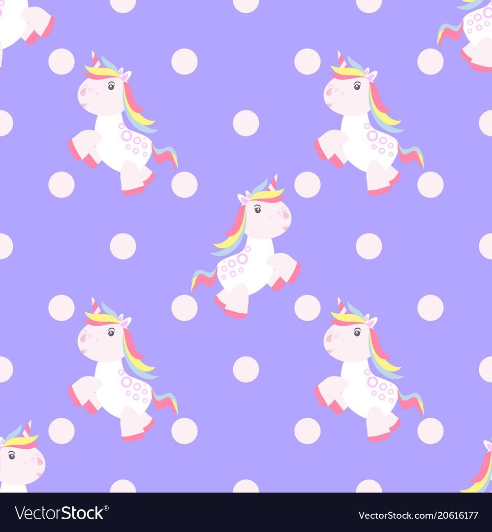 Cute unicorn pattern magic baby vector image