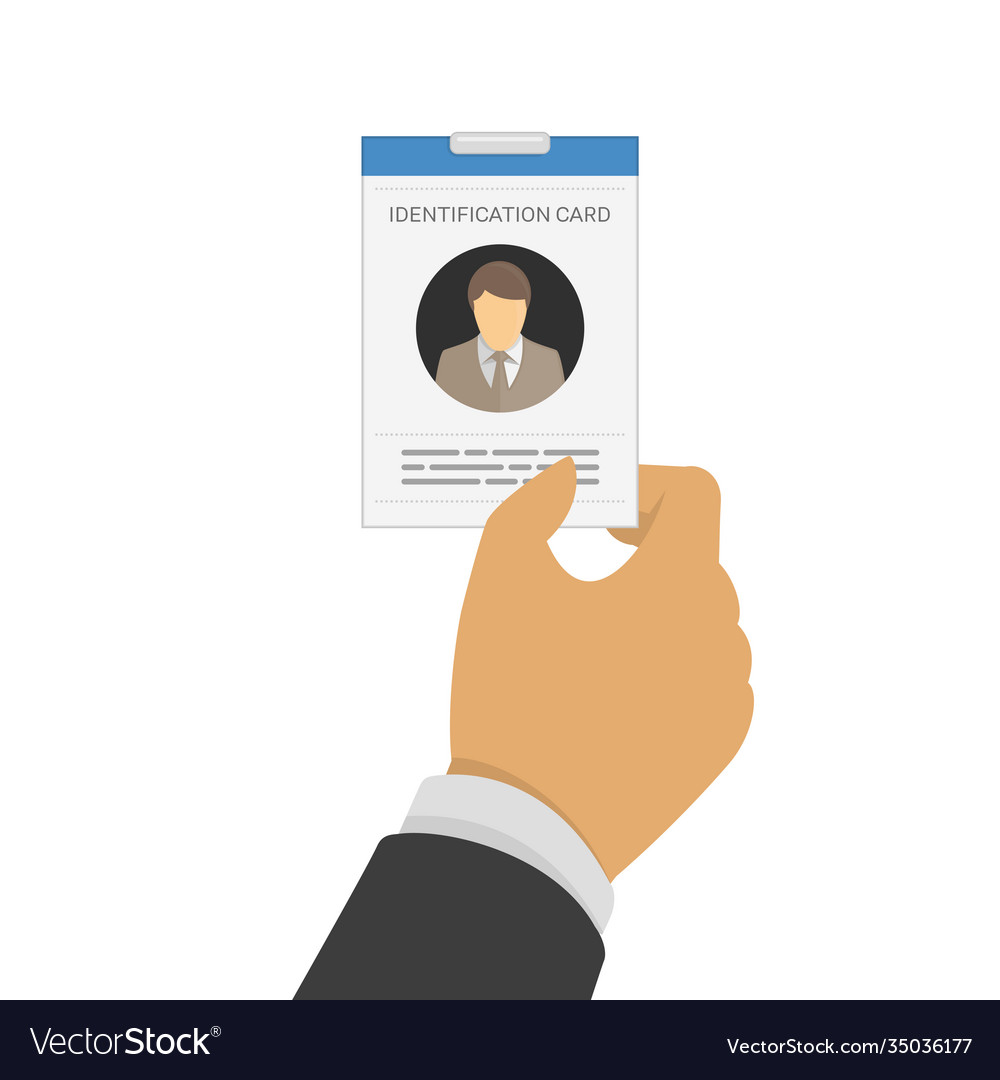 Id card in hand