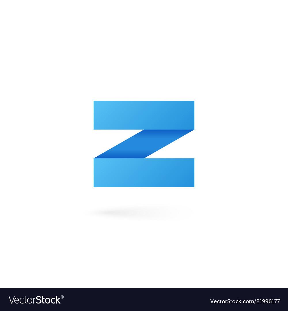 Letter z logo alphabet on white background