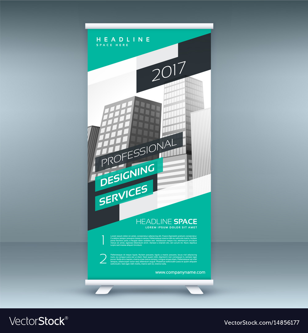 Modern standee design template banner Royalty Free Vector