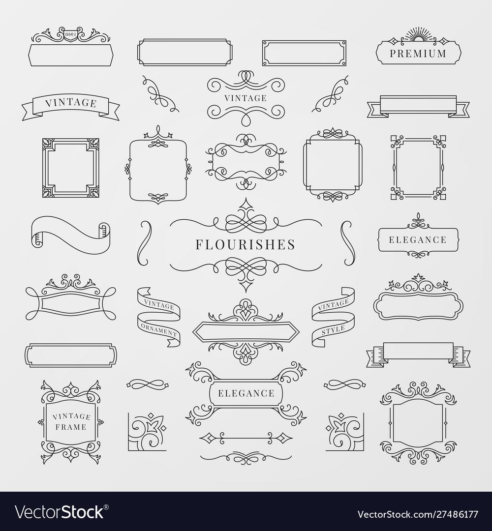 Vintage decorative frames set