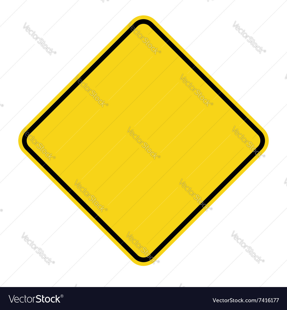 Yellow sign blank