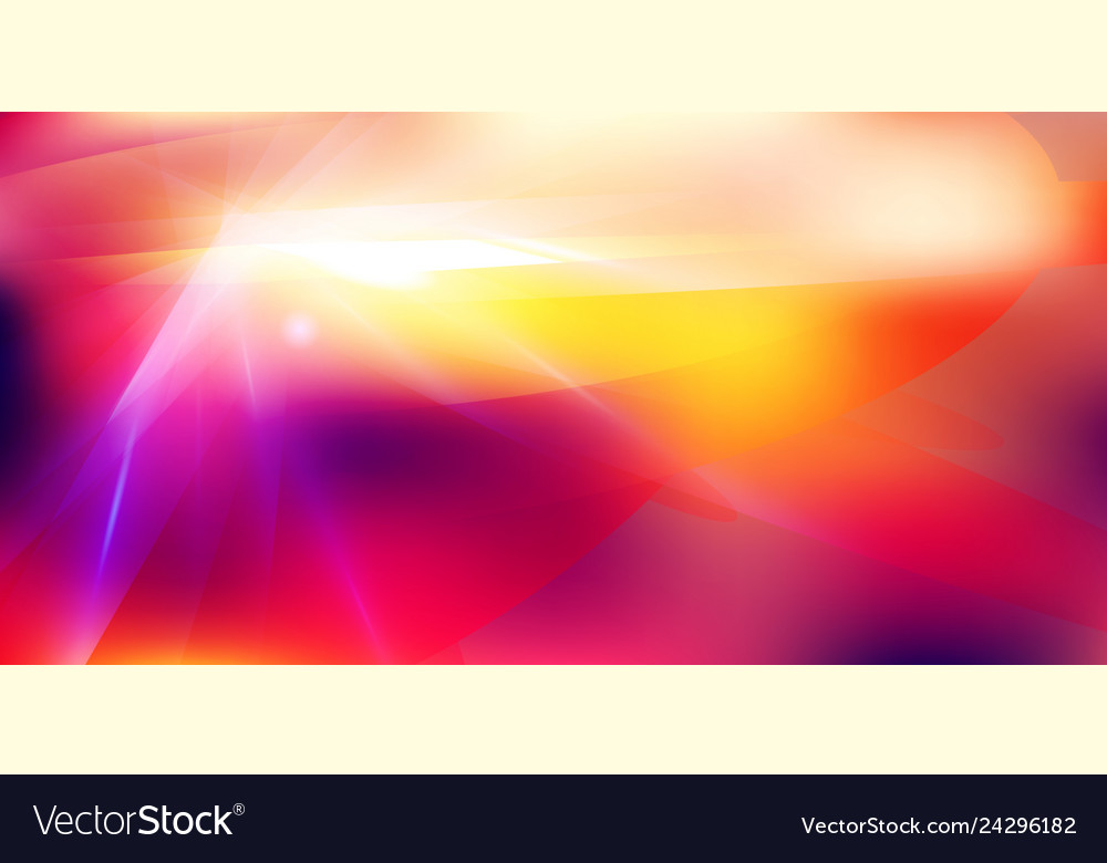 Abstract futuristic lighting effect on red color