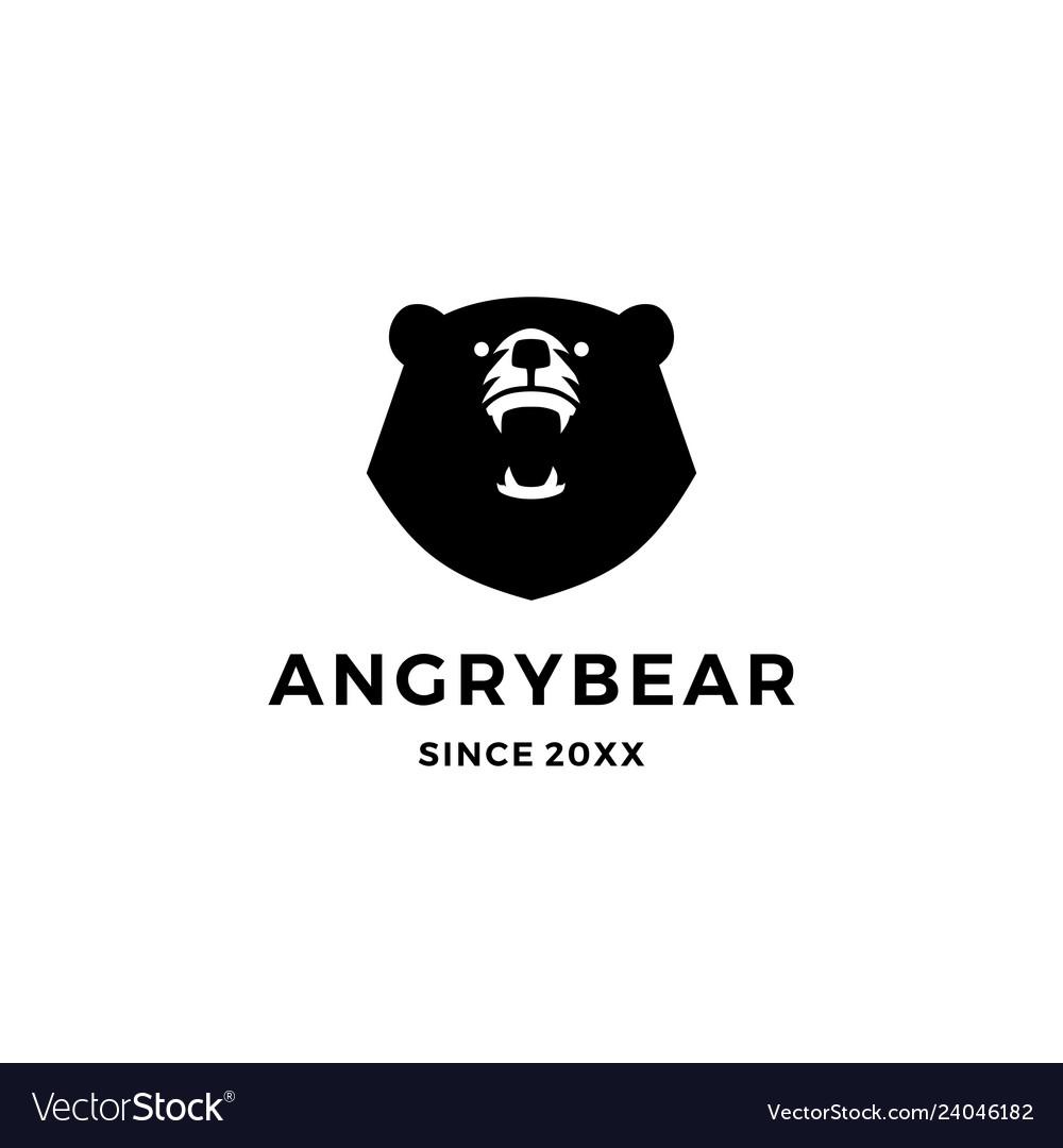 Angry bear logo icon