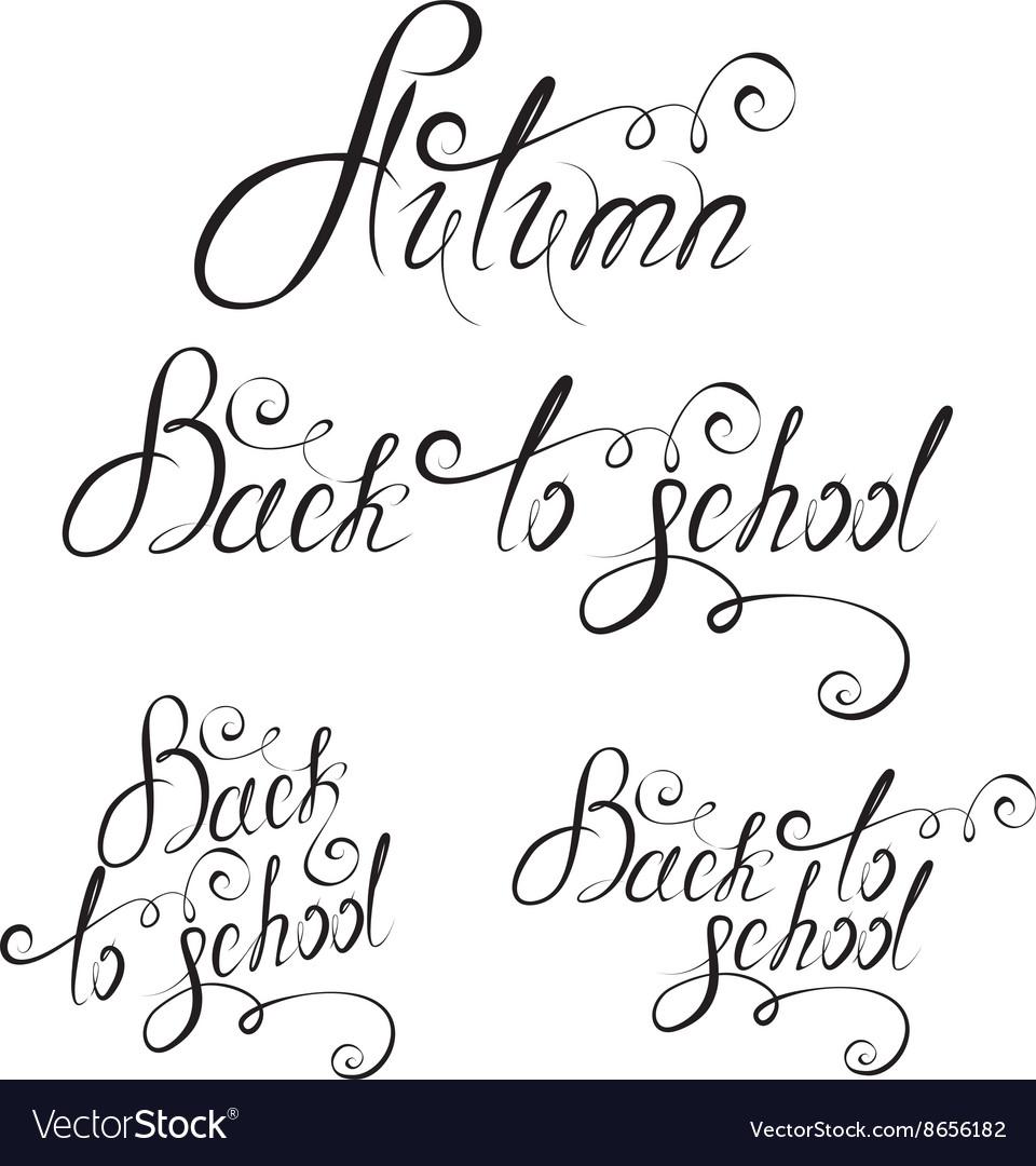 Back to school calligraphy 380