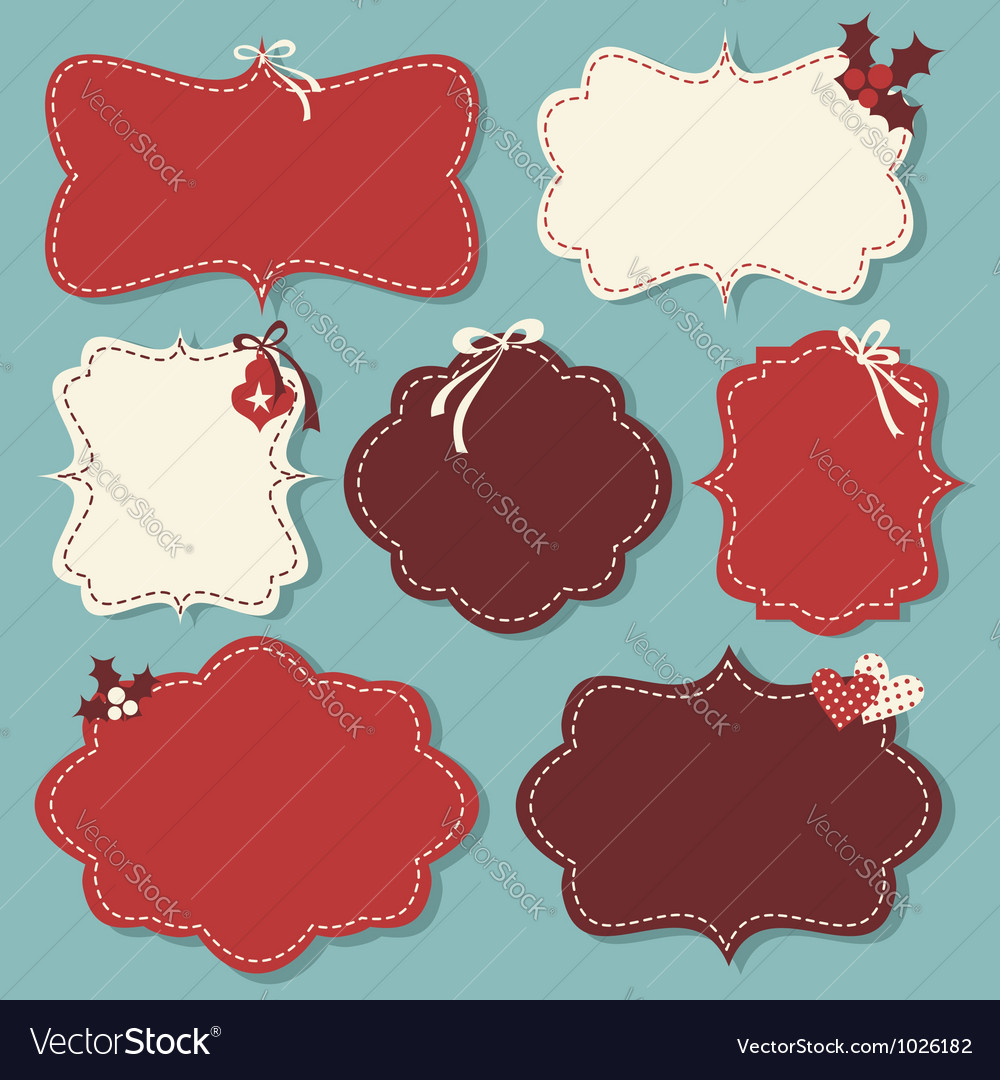 Christmas vintage labels