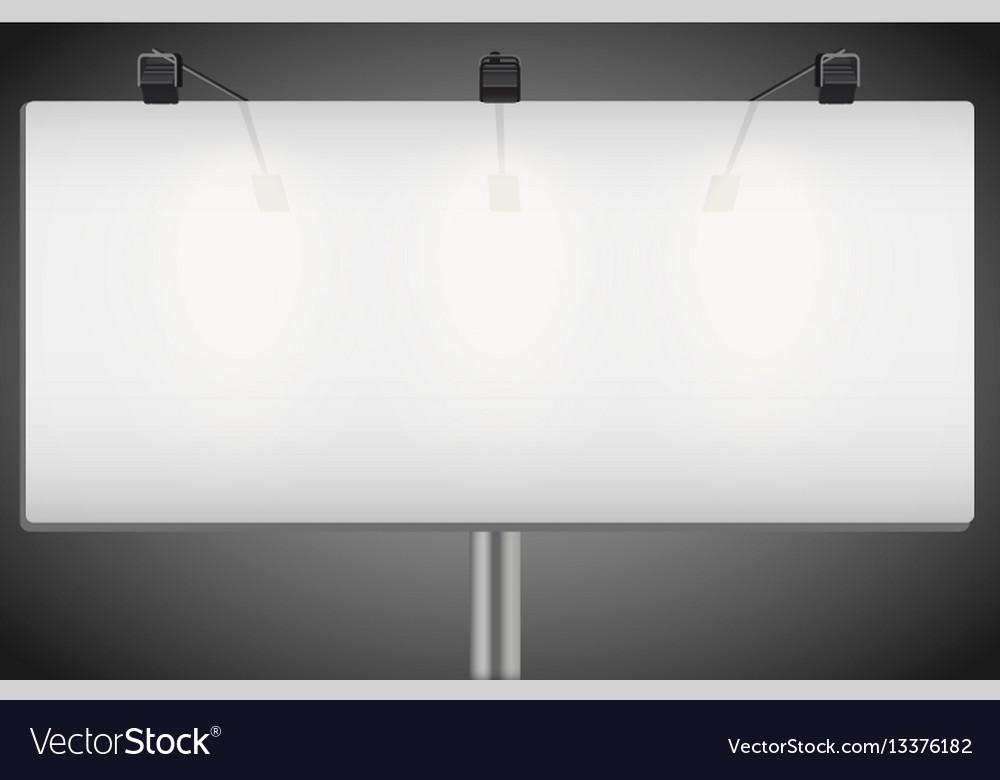 Closeup empty mockup billboard