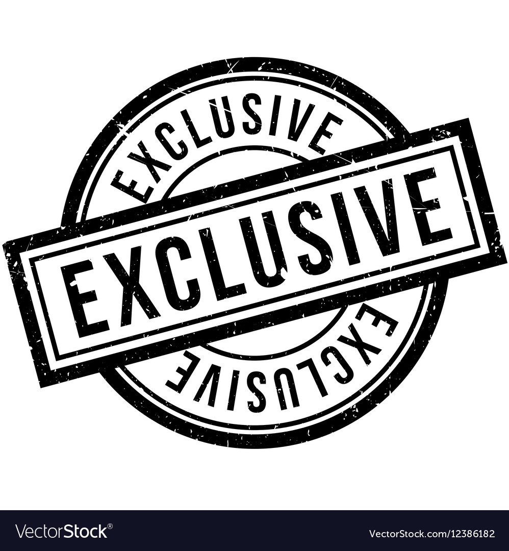 Exclusive rubber stamp vector image