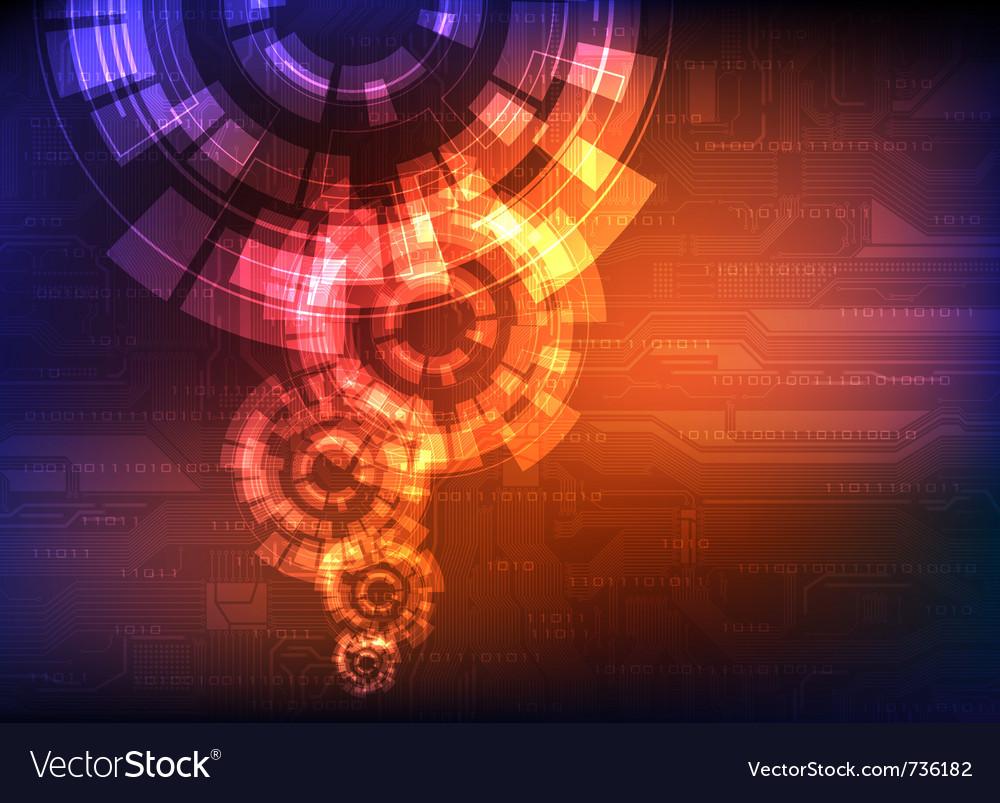 Futuristic background vector image