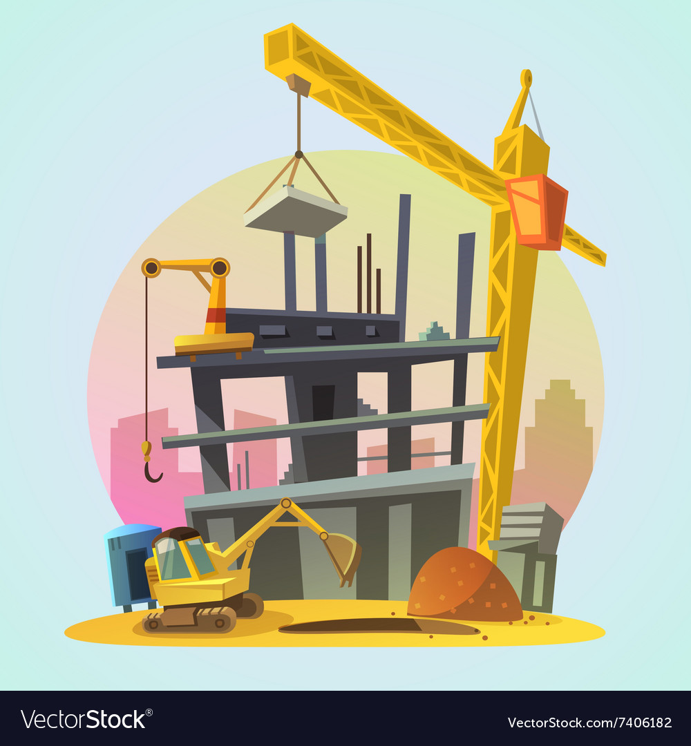 House construction cartoon