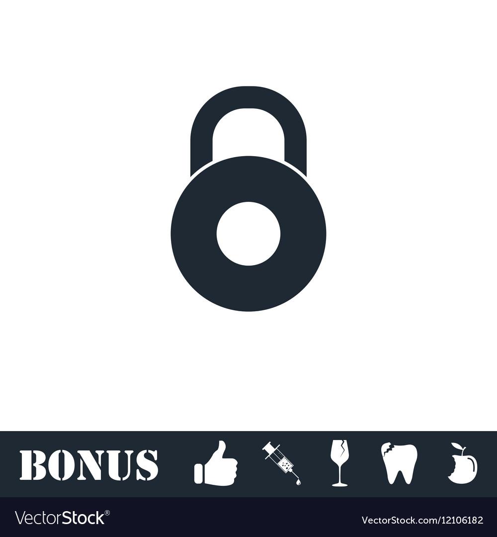 Lock icon flat