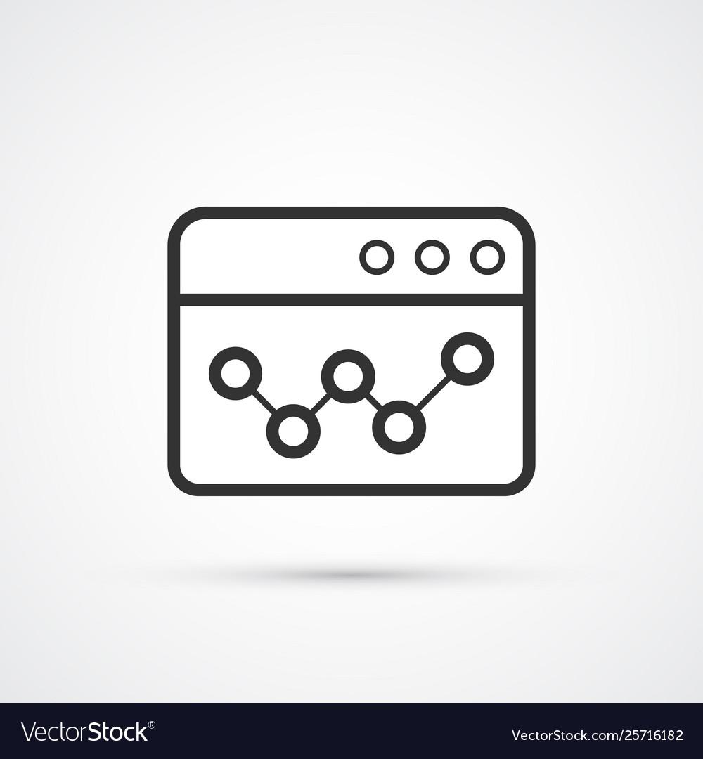 Seo statistic flat line trendy black icon eps10