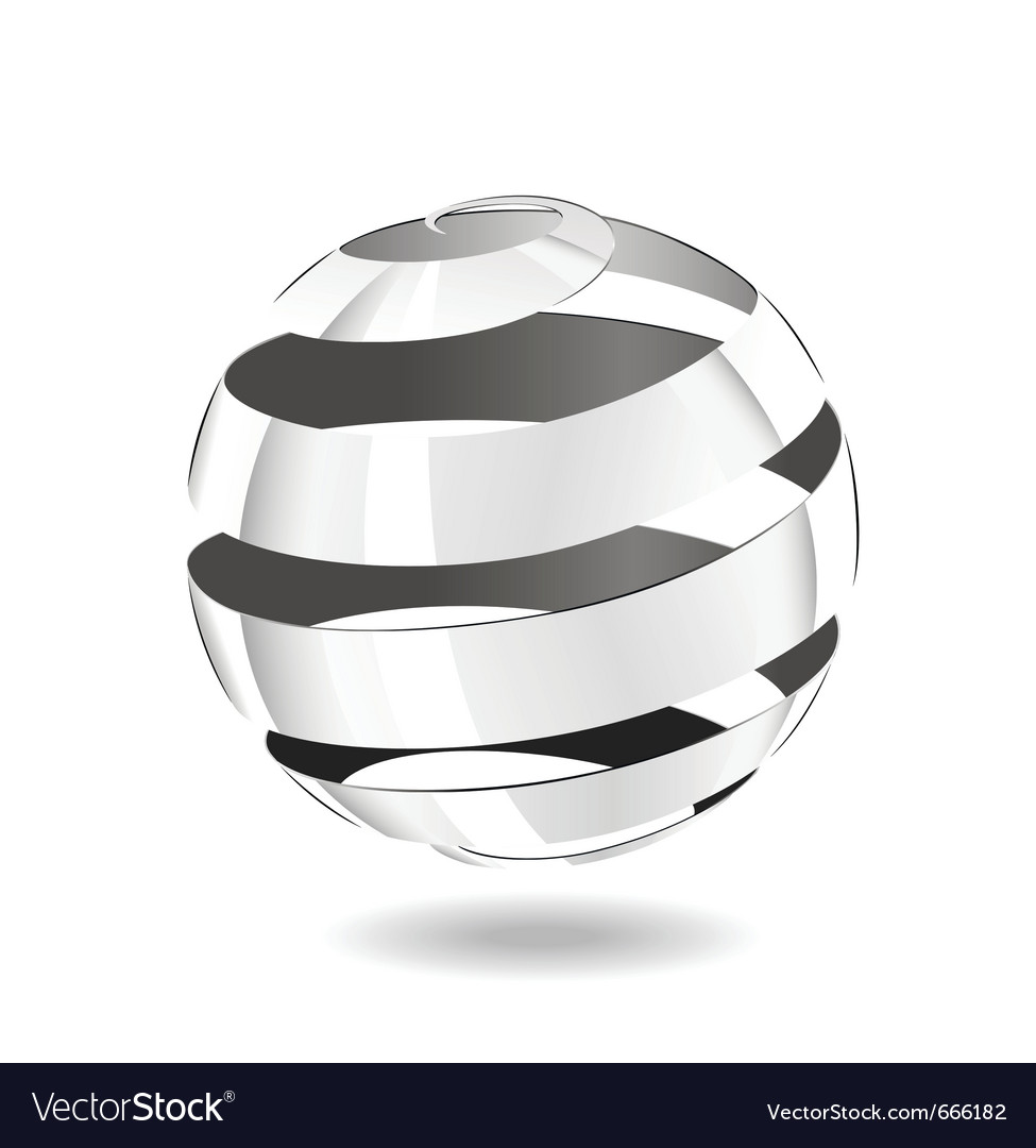 Steel strip ball vector image