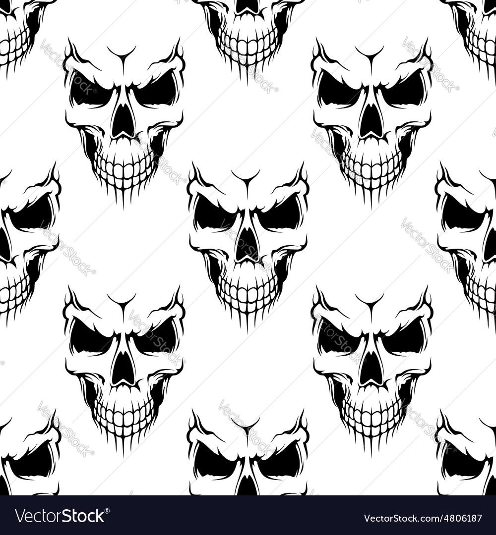 Black danger skull seamless pattern