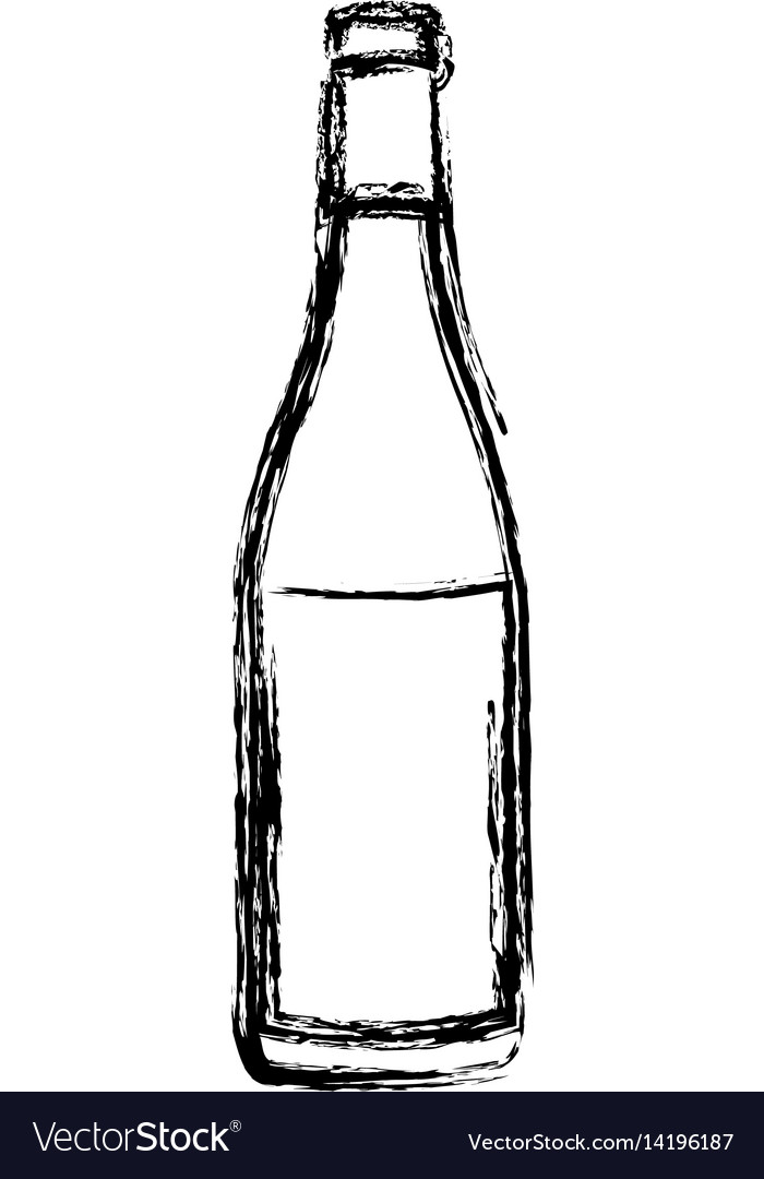 Blurred silhouette wine bottle with label