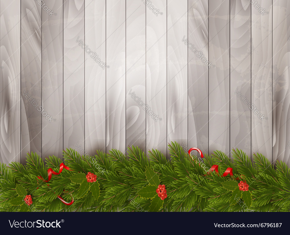 Christmas decoration on old wooden background