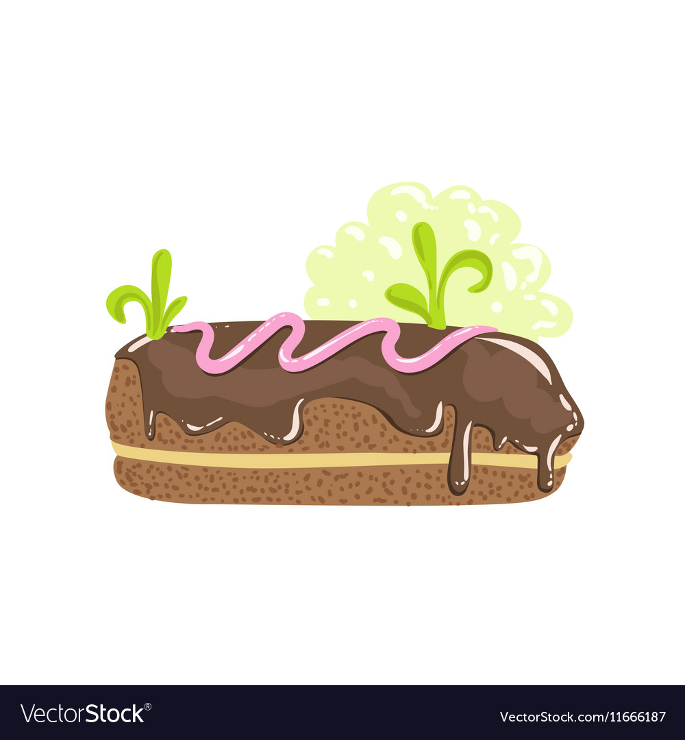 Classic Chocolate Eclair Sweet Pastry Fantasy