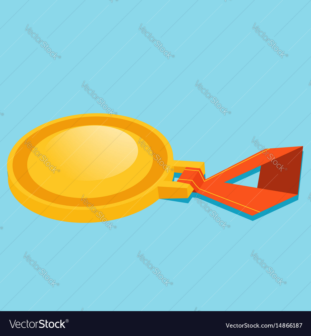Infographics medal on a blue background