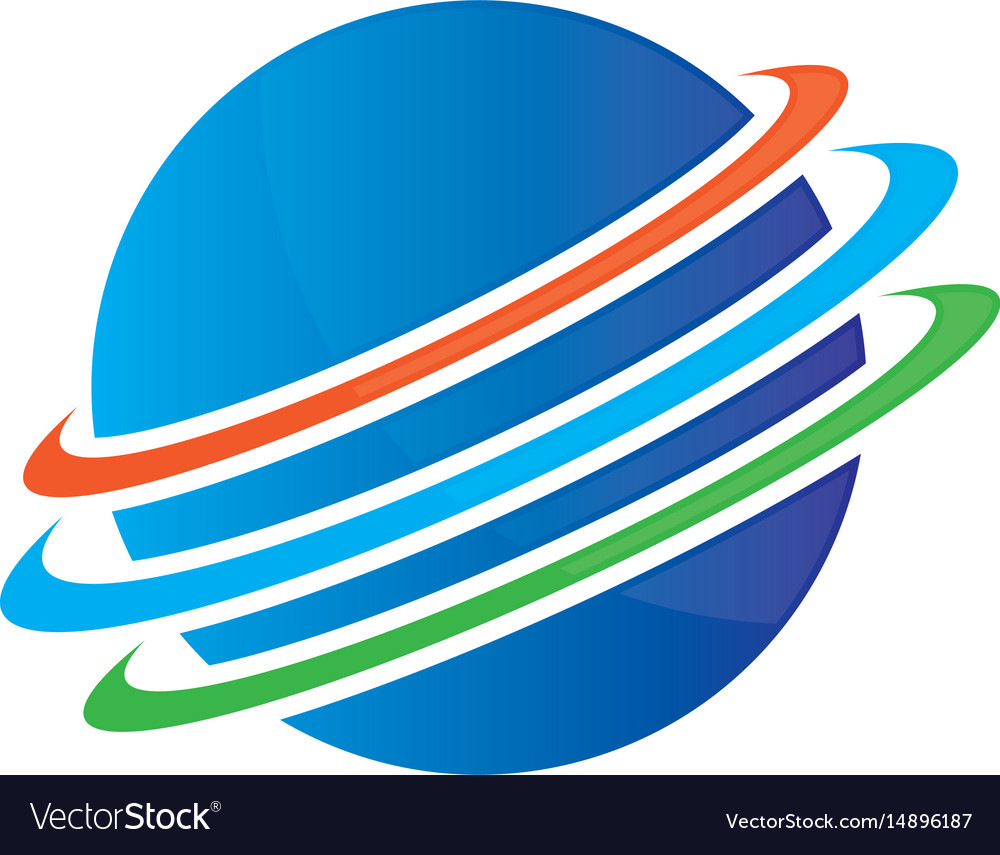 Planet globe sphere color logo image image