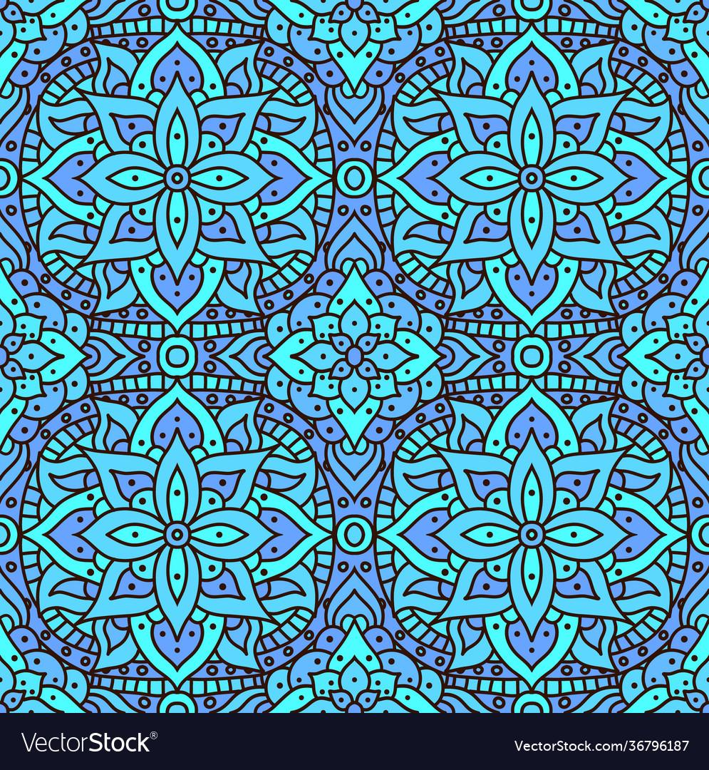 Seamless pattern mandala boho indian seamless