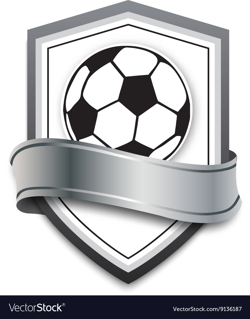 Soccer ball on the silver background
