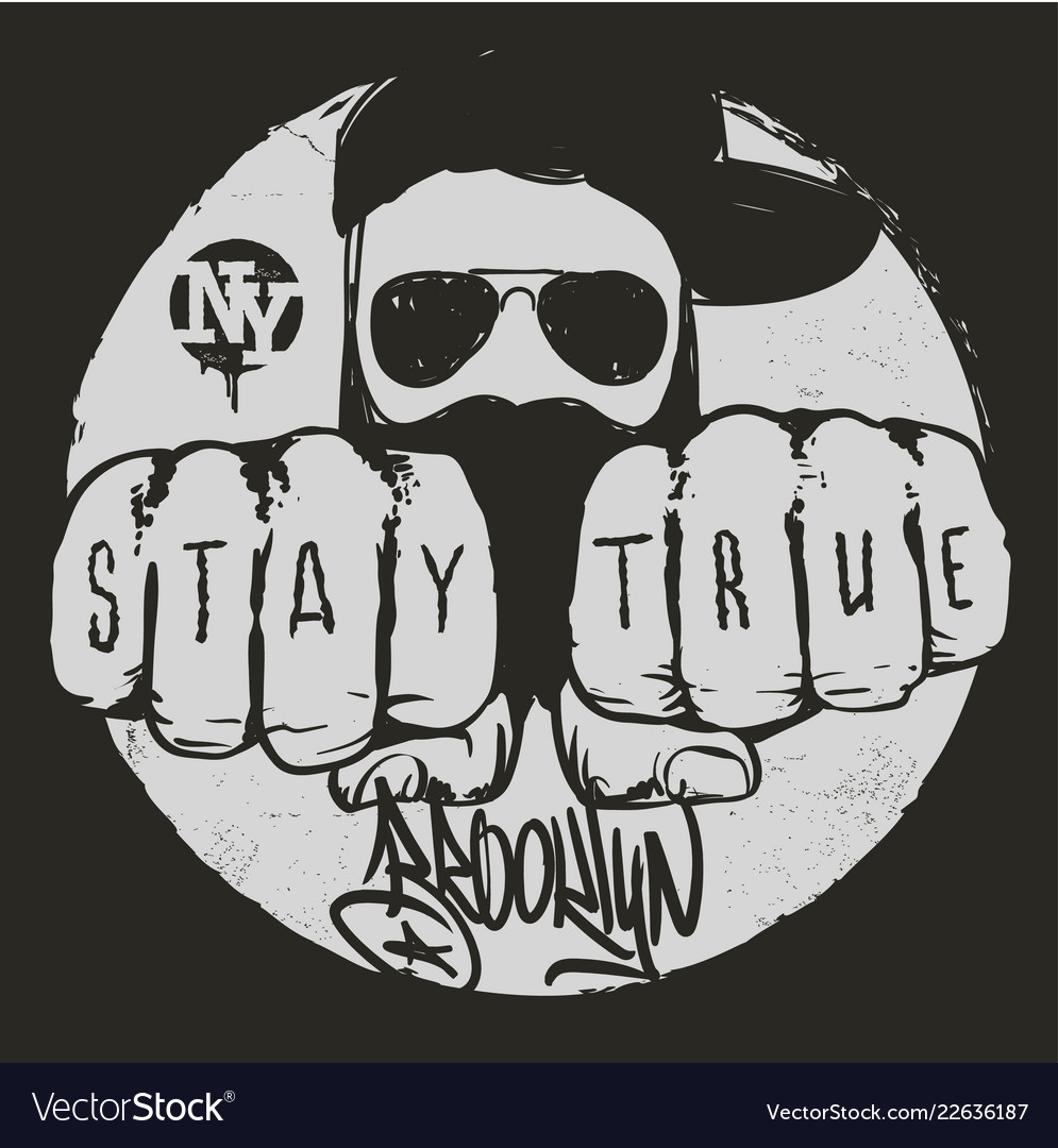 Stay true graphic design t-shirt