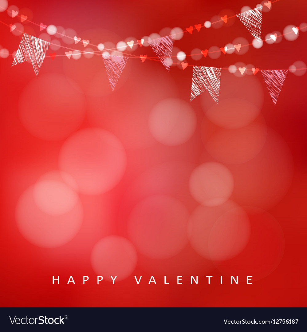 Valentines day greeting card invitation
