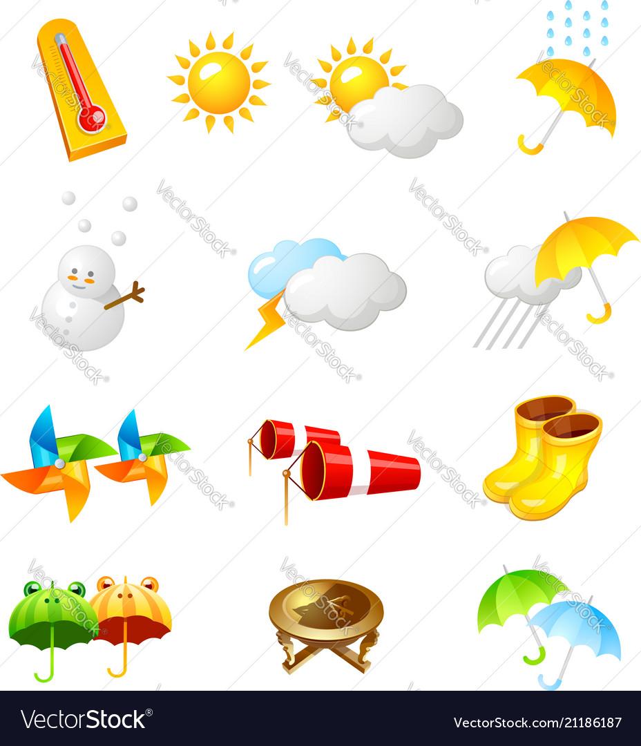 Weather icon 3d icon design
