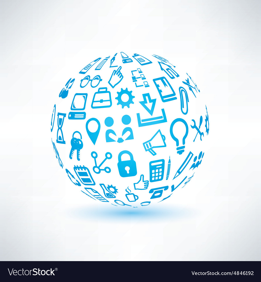 Abstract globe symbol business and communication