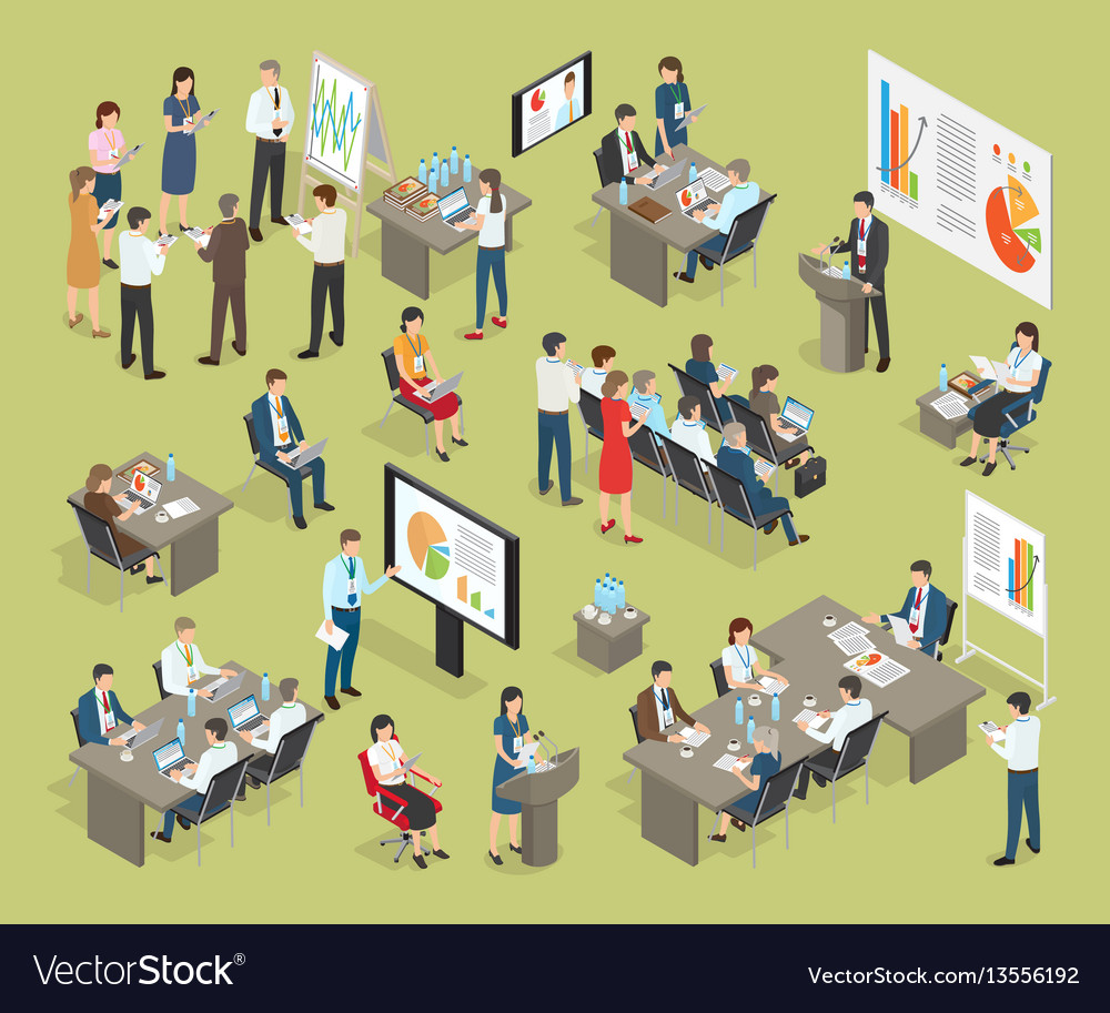 Business coaching collection in office