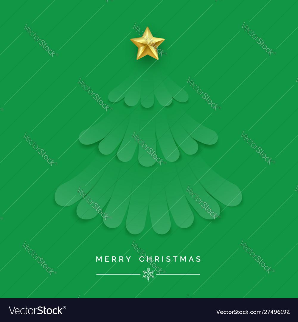 Christmas tree made green ribbons new year and