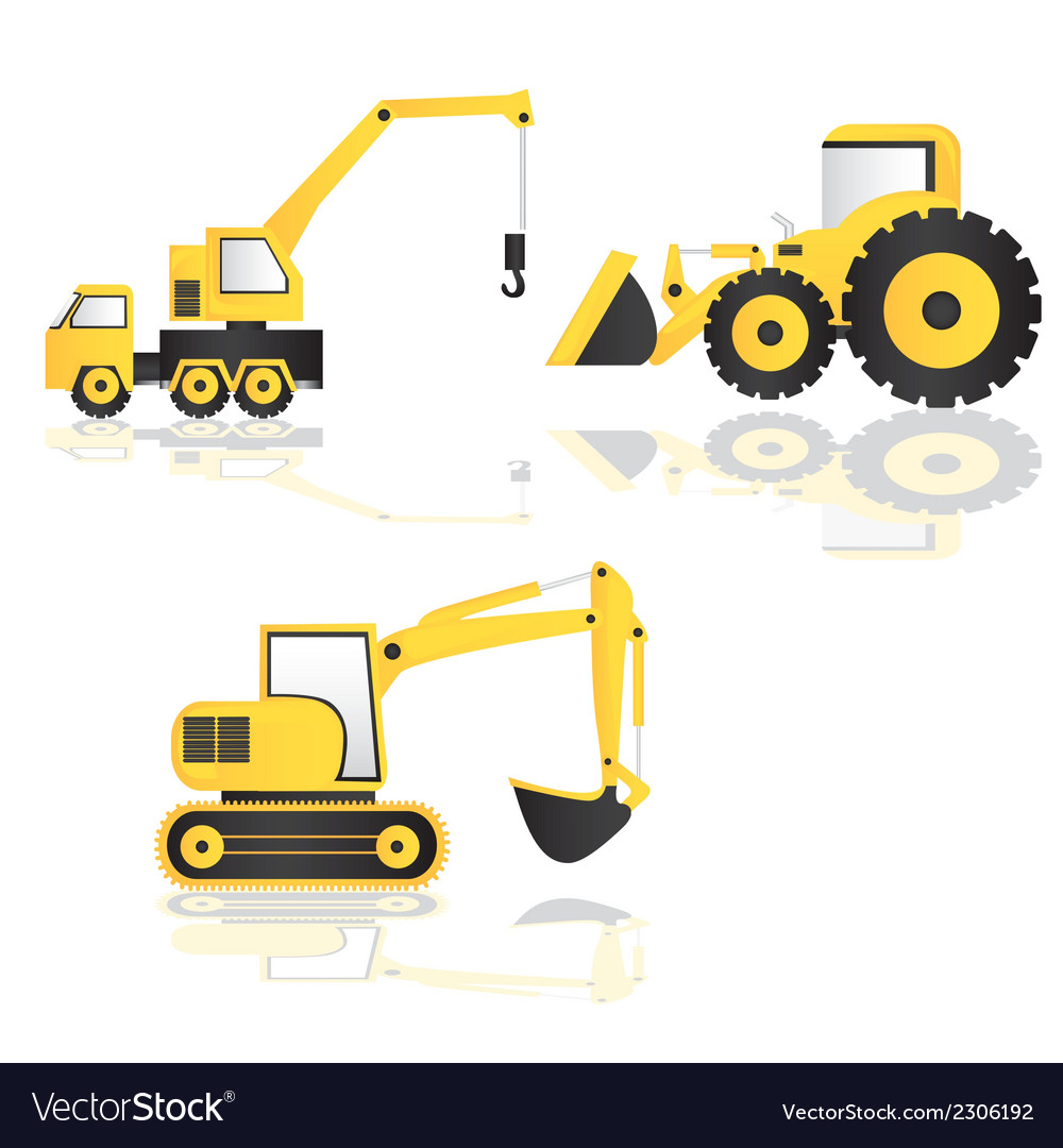Construction trucks vector image