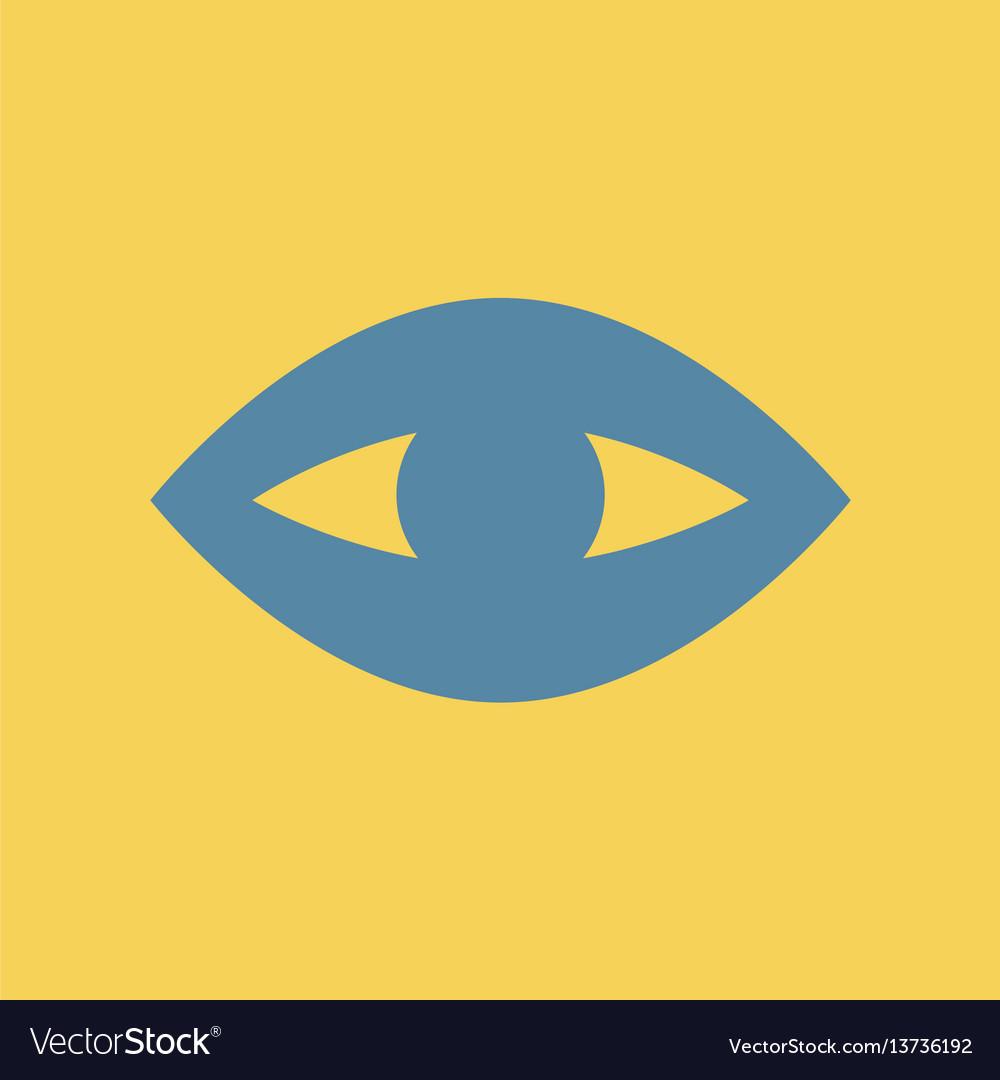 Flat icon puffy eye