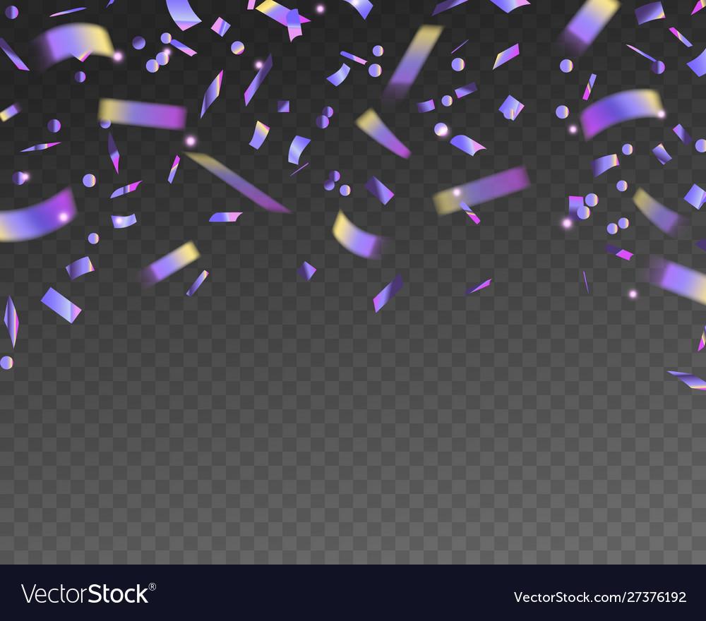 Holographic falling confetti realistic tinsel