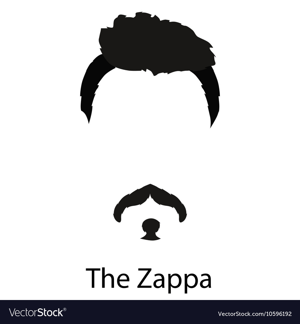 Men cartoon hairstyles with beards and mustache