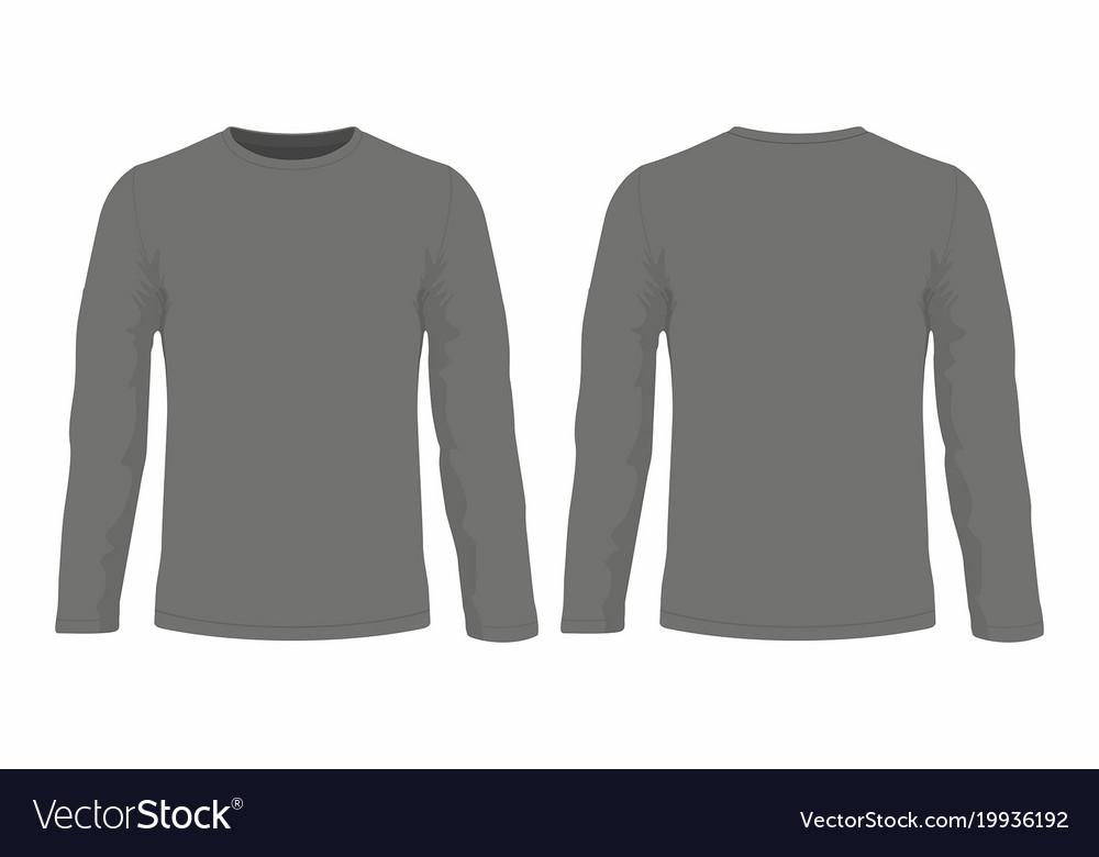 3b34645e Mens black long sleeve t shirt Royalty Free Vector Image